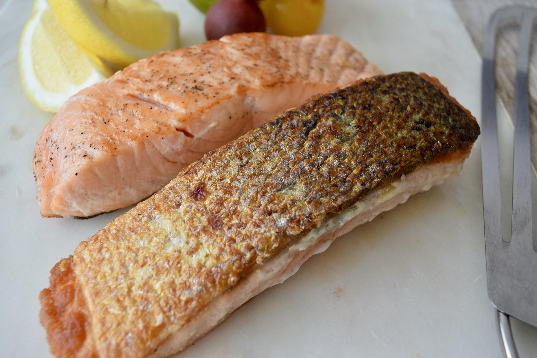 Salmon Con Piel Crujiente